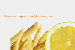 Macarrones y Limón, ingredientes de la comida fácil y rápida de Pasta con Salsa de Atún.