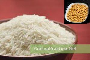 Receta fácil de arroz con garbanzos
