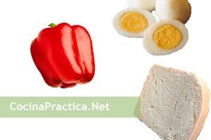 Ingredientes para preparar estos bocadillos muy sencillos.