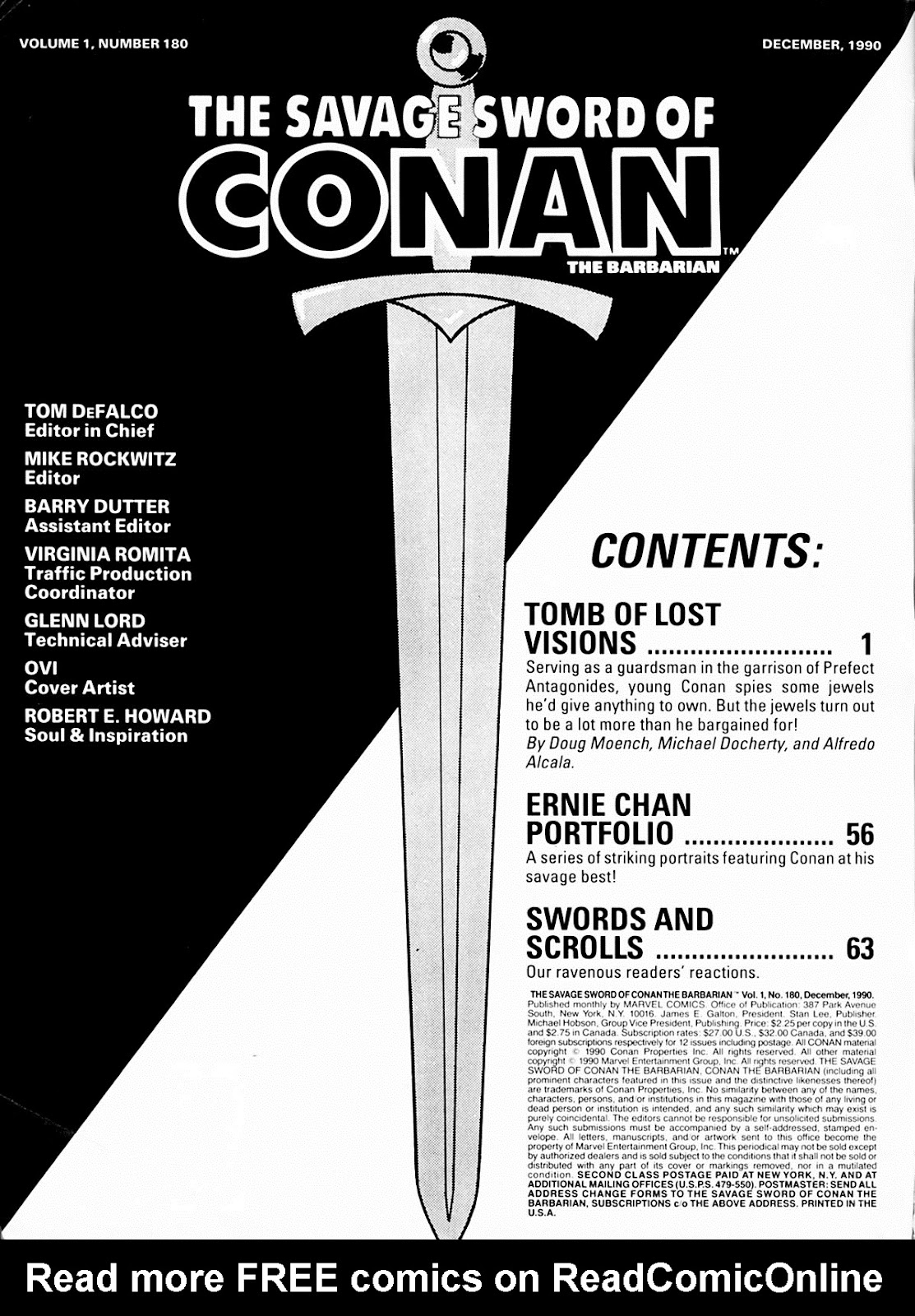 The Savage Sword Of Conan Issue #180 #181 - English 2