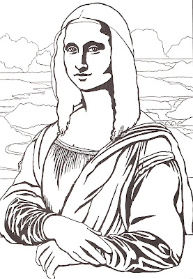 yes more mona lisa twists today i think the coloring page is the worst one ive ever seen - Mona Lisa Coloring Page