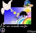 Símbolo, por la paz mundial.