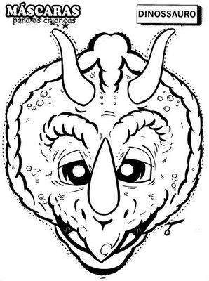 moldes de mascaras de animais em eva