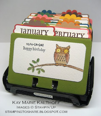 stampin up rolodex