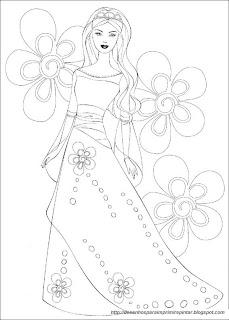 Barbie Vestido de Flores