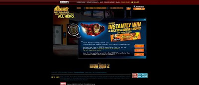 Hersheys.com/ironman, Reese's Iron Man 2 Instant Win Game