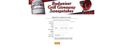 absweeps.com/grill, Budweiser Grill Giveaway