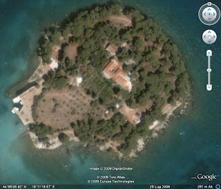 isolotto di Galevac su Google Earth