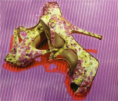 Scarpe a fiori-Bally