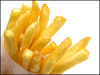 unhealthy French fries