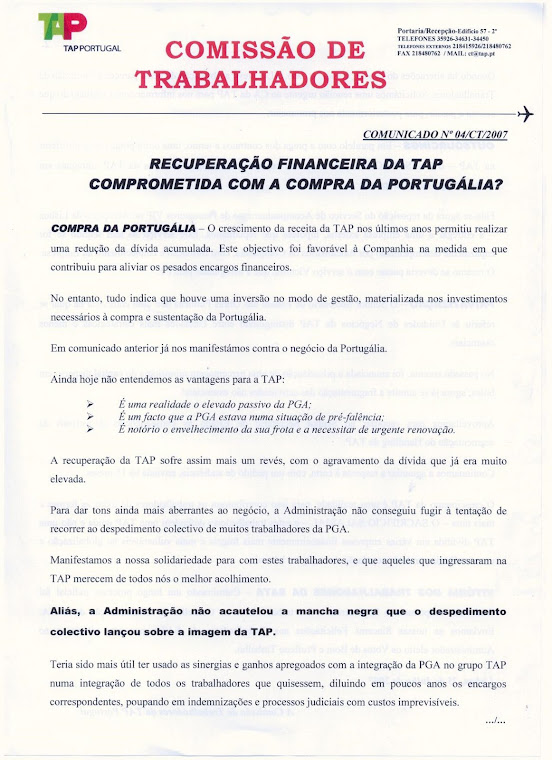 Comunicado 04/2007 (frente)