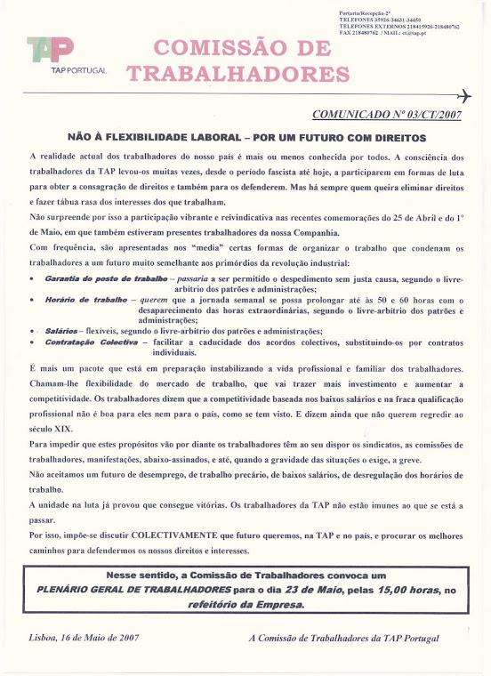 Comunicado 03/2007