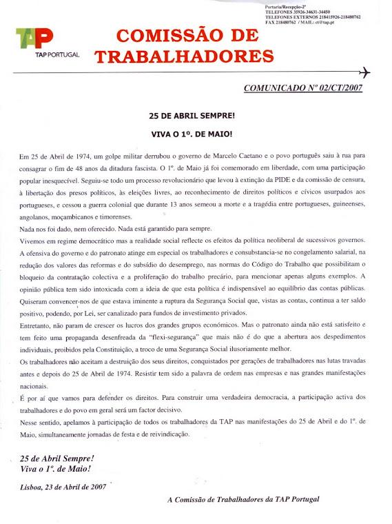 Comunicado 02/CT/2007