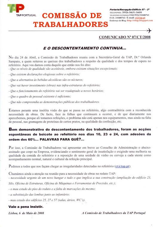 Comunicado 07/2008