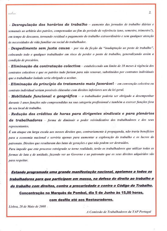 Comunicado 09/2008 (verso)