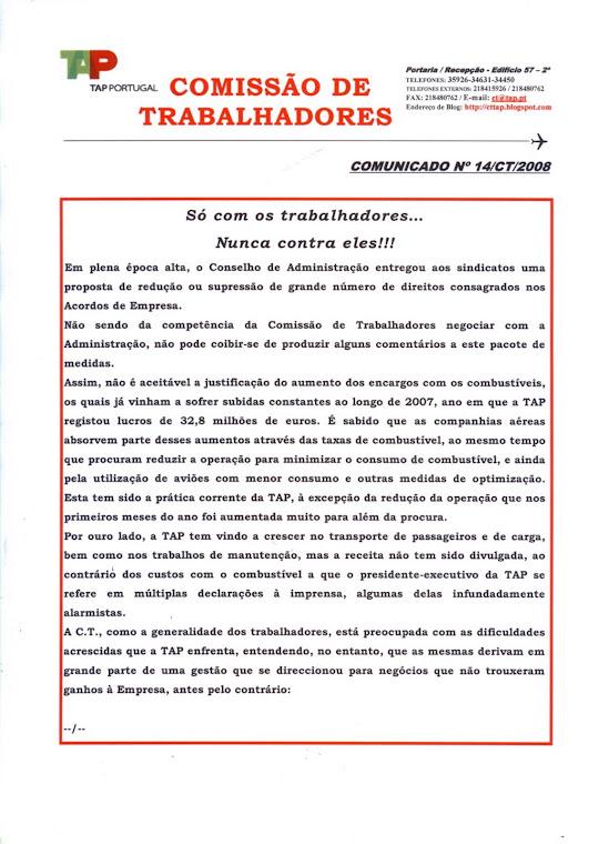 Comunicado 14/2008 (frente)