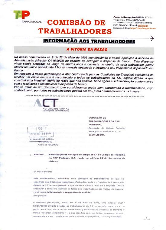 Informação aos Trabalhadores (folha 1)
