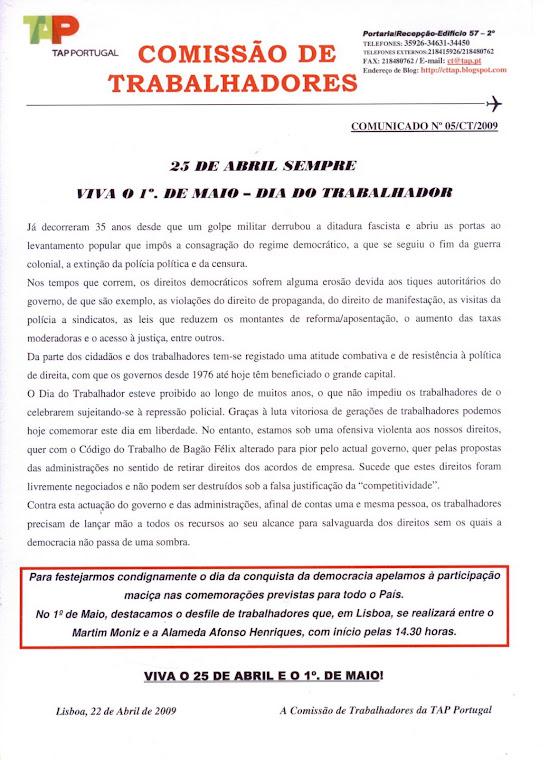 Comunicado 05/2009