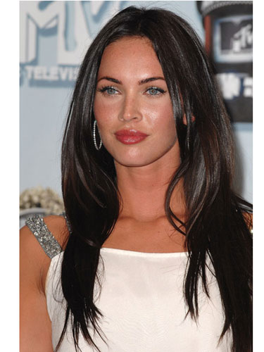 megan fox hair extensions. megan fox hair color 2011.