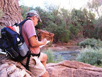 Artist John Mangels in zion National Park