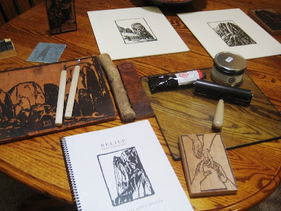 Royden Card's printmaking studio