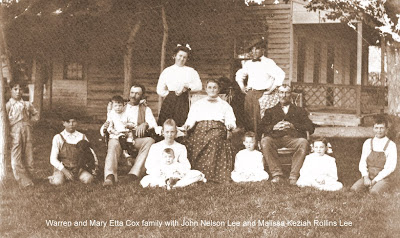 John and Malissa Rollins Lee with Mary Etta Lee Cox family