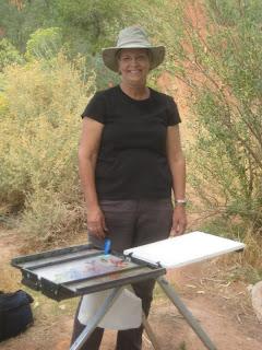 Mary Jane Grow painting