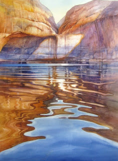 Roland Lee painting of Lake Powell Reflections