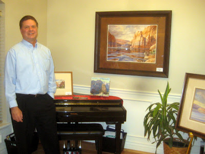 Roland Lee art show in Highland Utah featuring new Lake Powell paintings