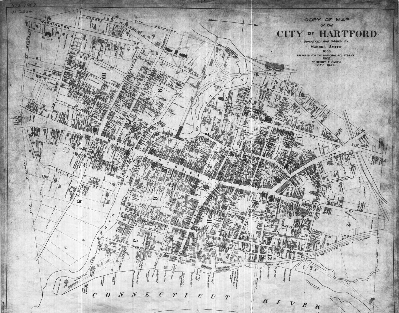 Sad City Hartford: Hartford Kewl Find: An Even Older Map