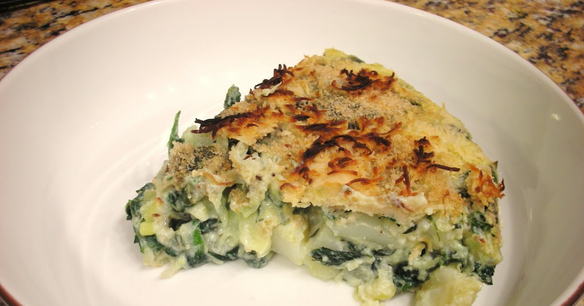 Everyday Vegan: 'Frittata' with Spinach, Potatoes, and Leeks