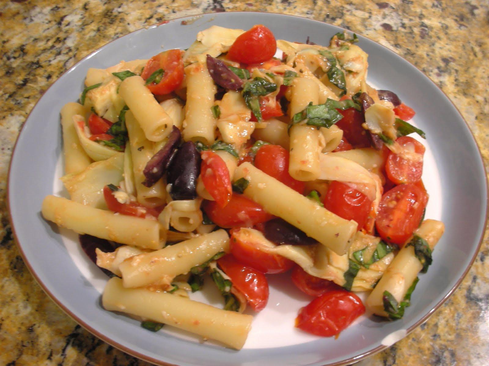 Spaghetti With Artichoke Hearts And Tomatoes Recipe — Dishmaps