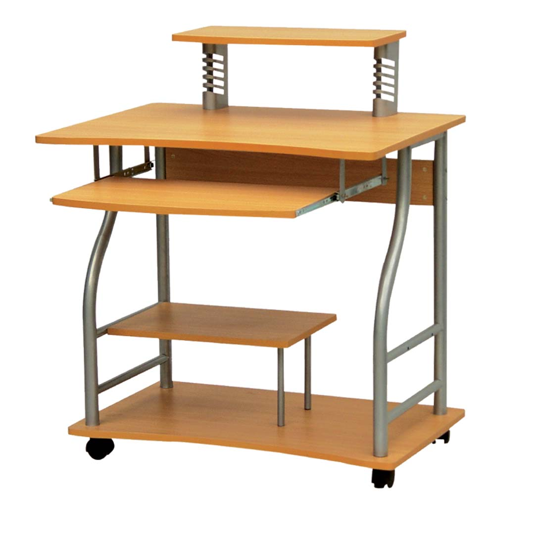Metal and wood computer desk wooden computer table wooden furniture design solid wood - Small computer table design ...