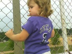 Sophia's 1st Jeter Jersey