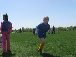 Sophia on the soccer field