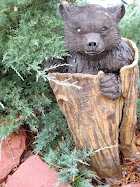 Bear in Tree Stump