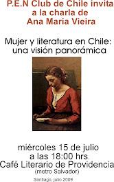 INVITACIÓN A CHARLA-  Ana María Vieira
