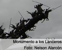 Así fue la restauración al monumento a Los Lanceros