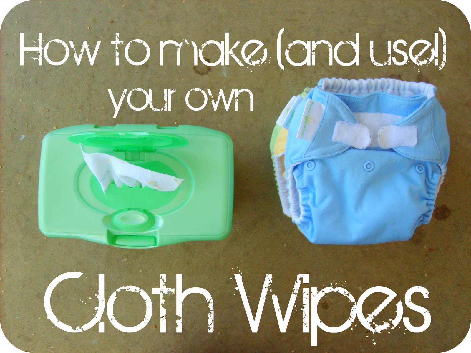 the red kitchen How to make and use your own Cloth Wipes