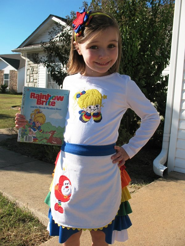 Usually sheu0027s in love with characters that she sees everywhere but Ella is my girl when it comes to Rainbow Brite.  sc 1 st  Coleu0027s Corner and Creations : toddler rainbow brite costume  - Germanpascual.Com
