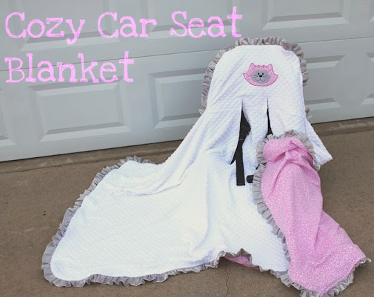 cole 39 s corner and creations cozy car seat blanket. Black Bedroom Furniture Sets. Home Design Ideas