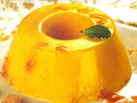 Manjar de Laranja com Calda de Limão (vegana)