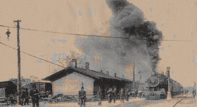 Salisbury Train Depot in 1906