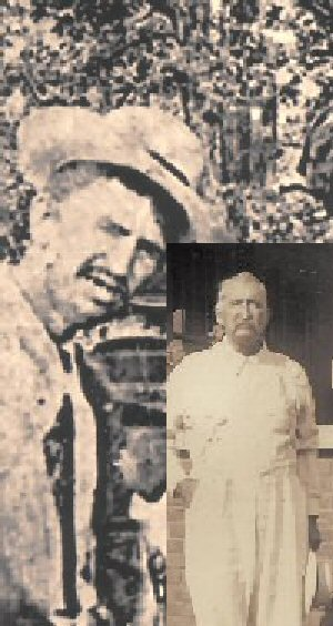 Man w/Panama Hat & John Redwine Barringer Inset