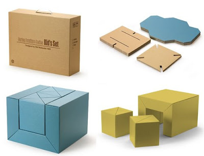 Trecool, Carton Furniture Series, Riki Watanabe, muebles de cartón