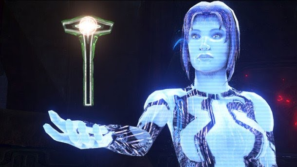 cortana witht the key halo