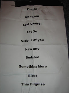 silverfish concert set list