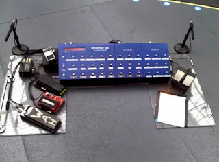 the edge's guitar effects set up