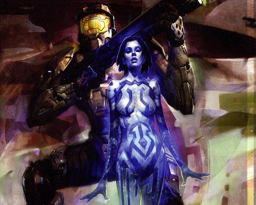 cortana large breasts halo