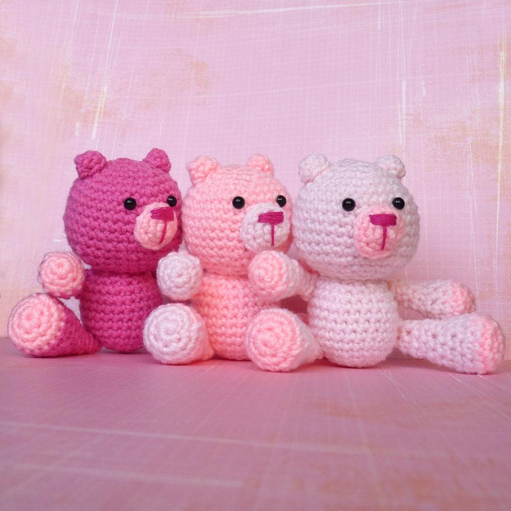 Amigurumi Pink Bear : Cute Designs UK - Amigurumi, Kawaii and Plush Love ...